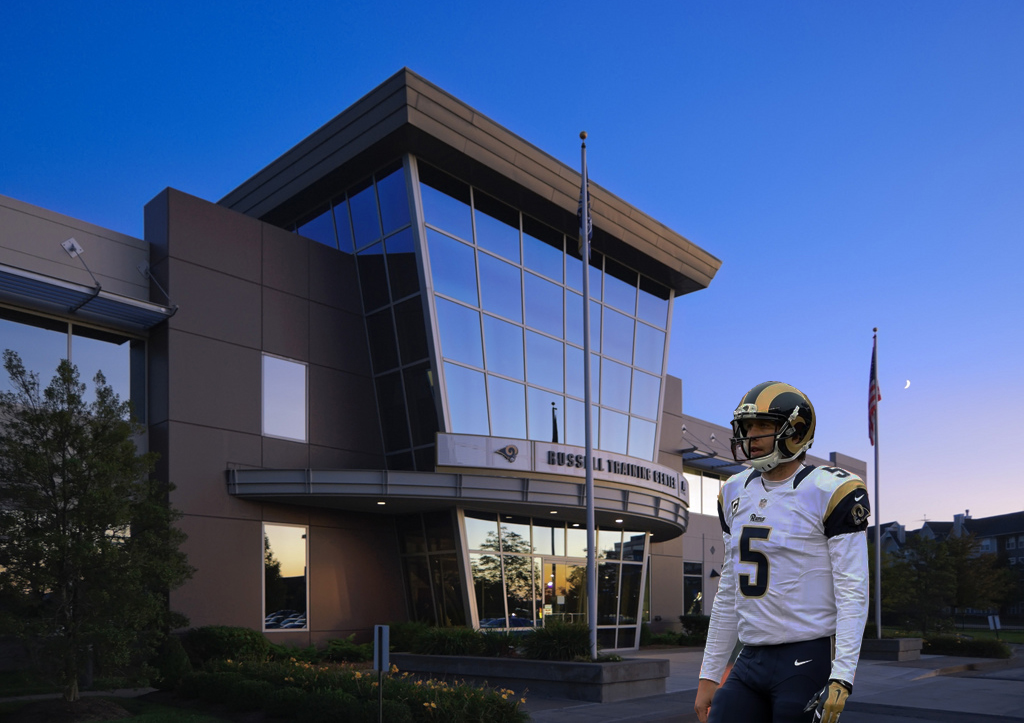 Nick Foles Waits Outside Rams Facility In St Louis Team