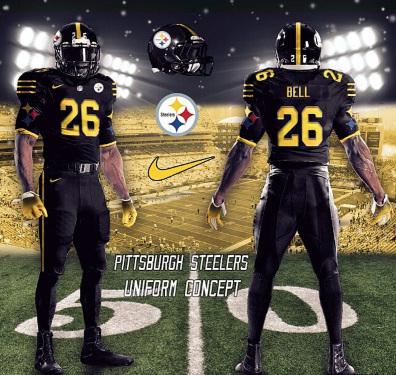 new styles 3a9d4 0e643 pittsburgh steelers uniform colors
