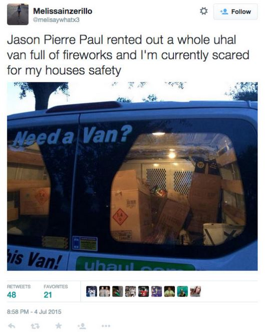 Jason Pierre Paul What Kind Of Firework: Throwback To Jason Pierre-Paul's Neighbor Tweeted She Was