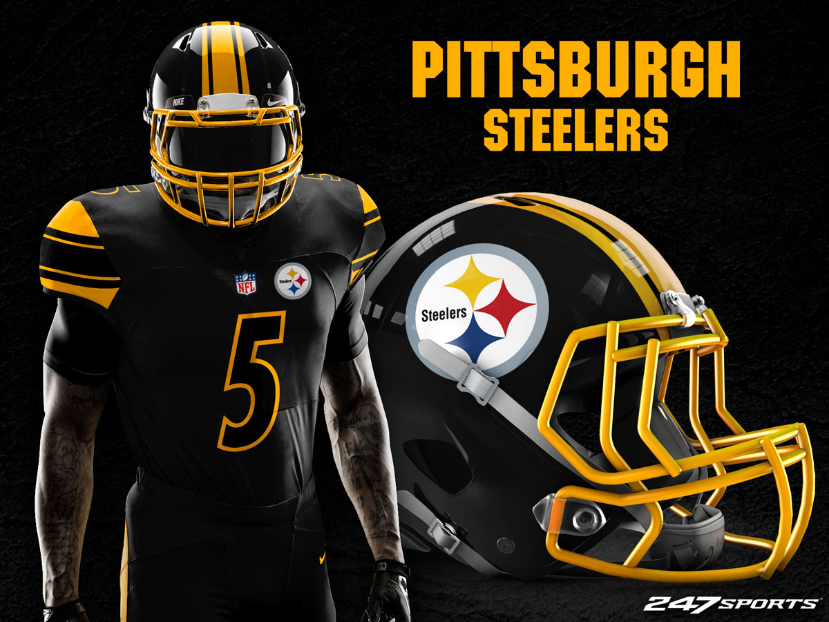 sale retailer 6ad5b 086c3 pittsburgh steelers blackout jersey