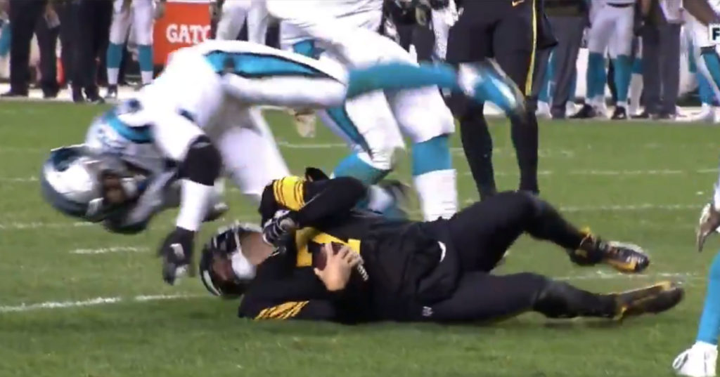 Panthers Safety Eric Reid Ejected For Dirty Hit To The Head On Ben Roethlisberger