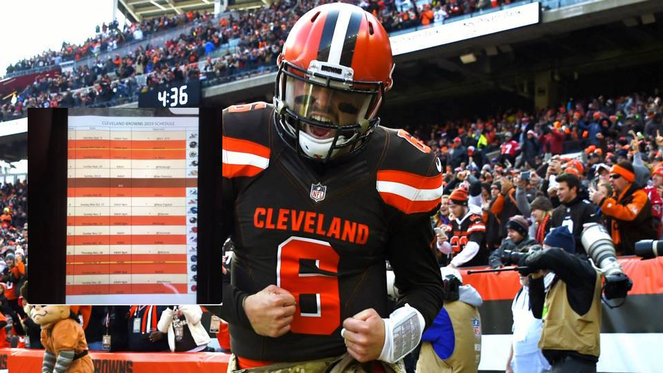 REPORT Someone Leaked The Browns 2019 Schedule Daily Snark