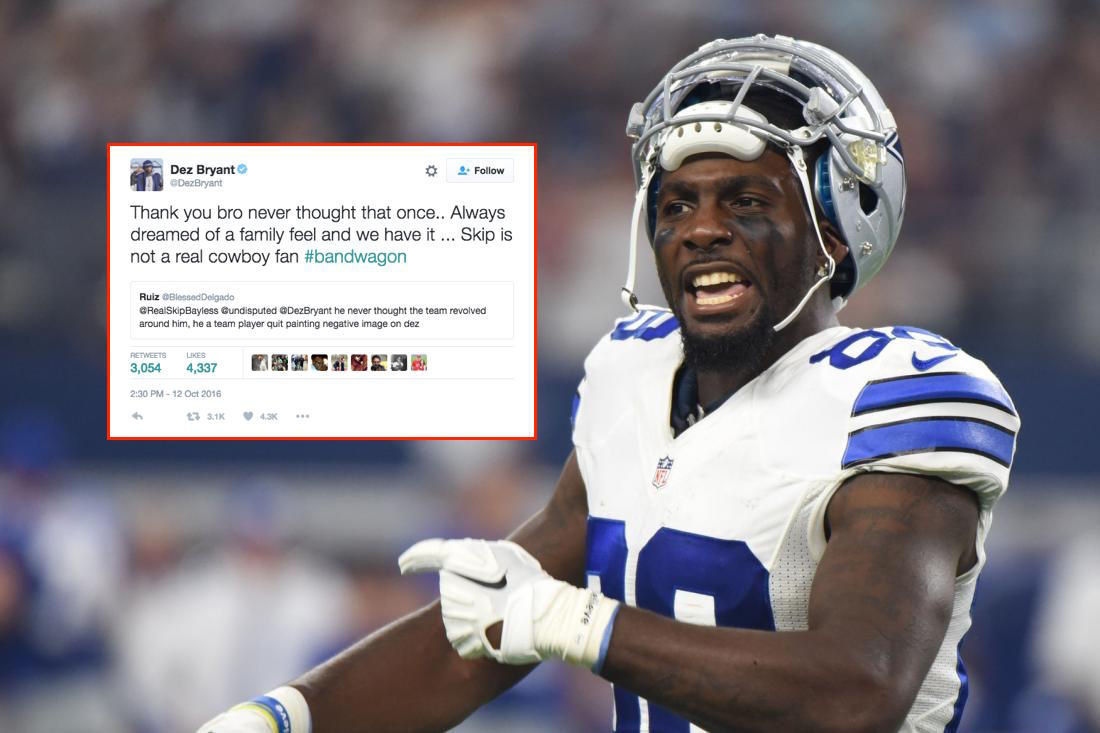 Dez Bryant Calls Out Skip Bayless On Twitter Daily Snark