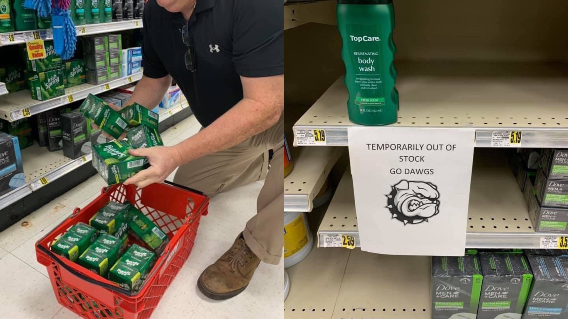 Grocery Store Near University of Georgia Pulls All Irish Soap Ahead Of Game vs Notre Dame (PIC)